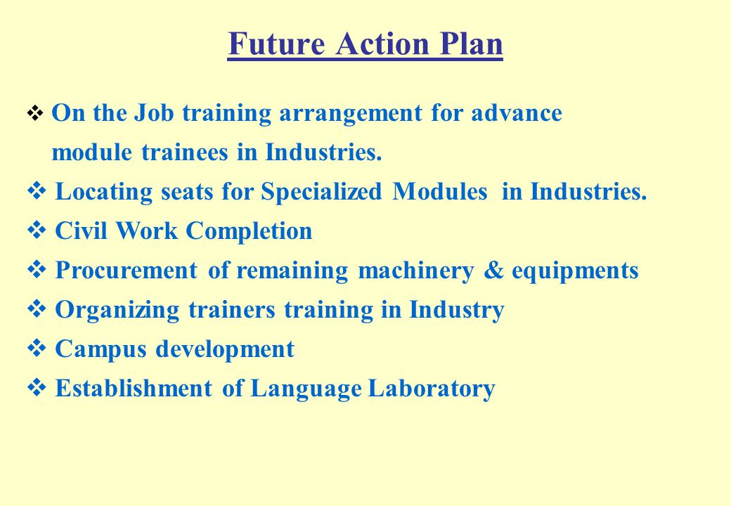 Future Action Plan module trainees in Industries.
