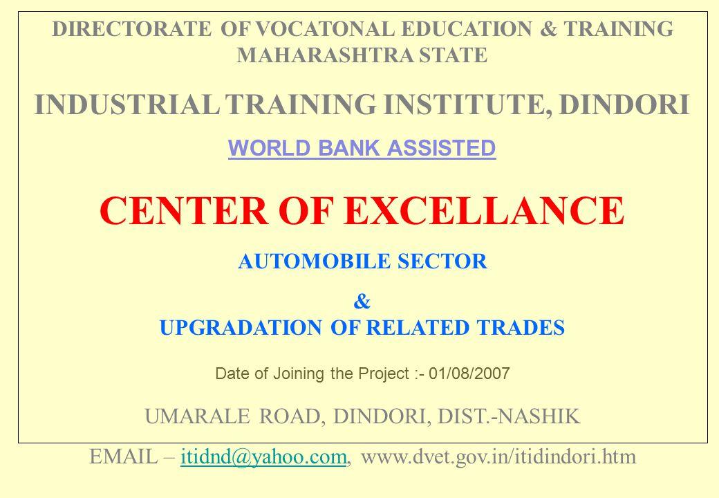 CENTER OF EXCELLANCE INDUSTRIAL TRAINING INSTITUTE, DINDORI