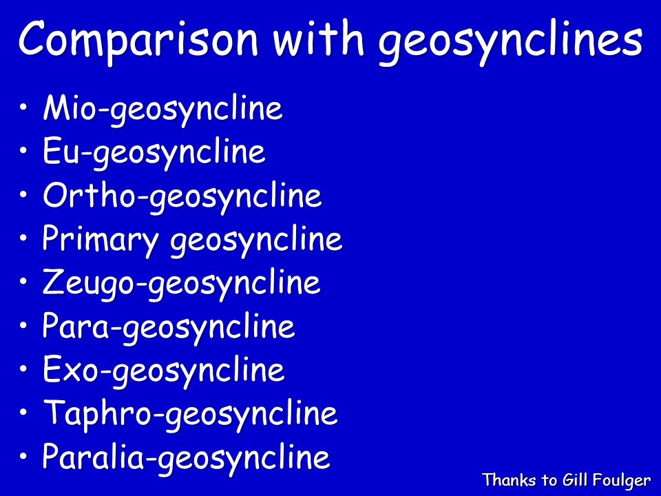 Comparison with geosynclines