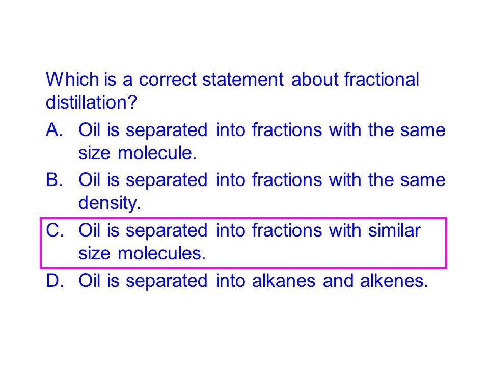 Which is a correct statement about fractional