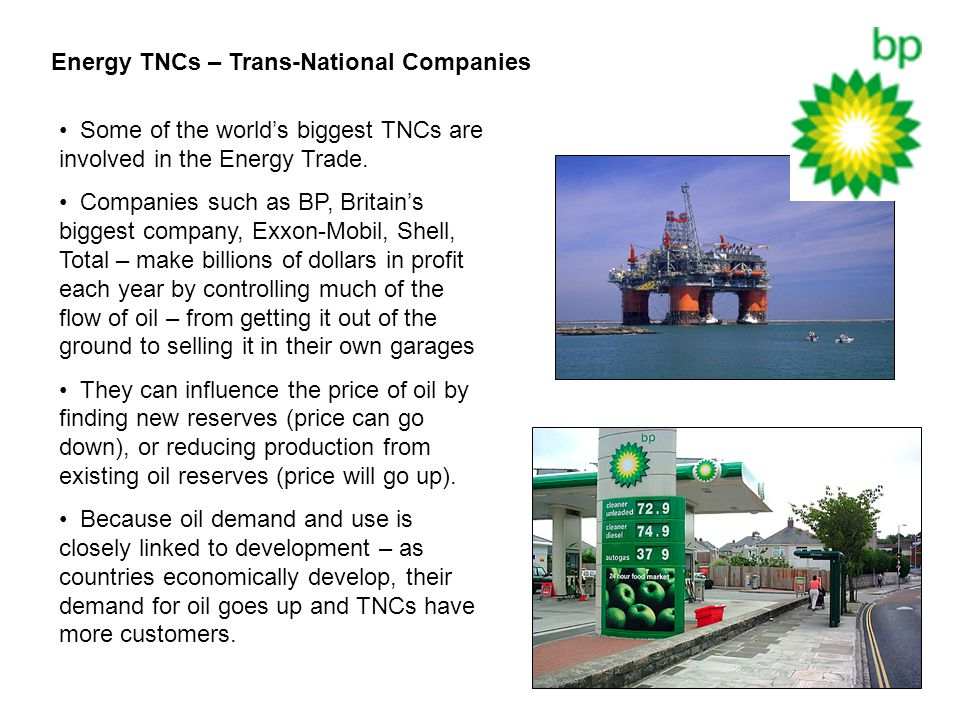 Energy TNCs – Trans-National Companies