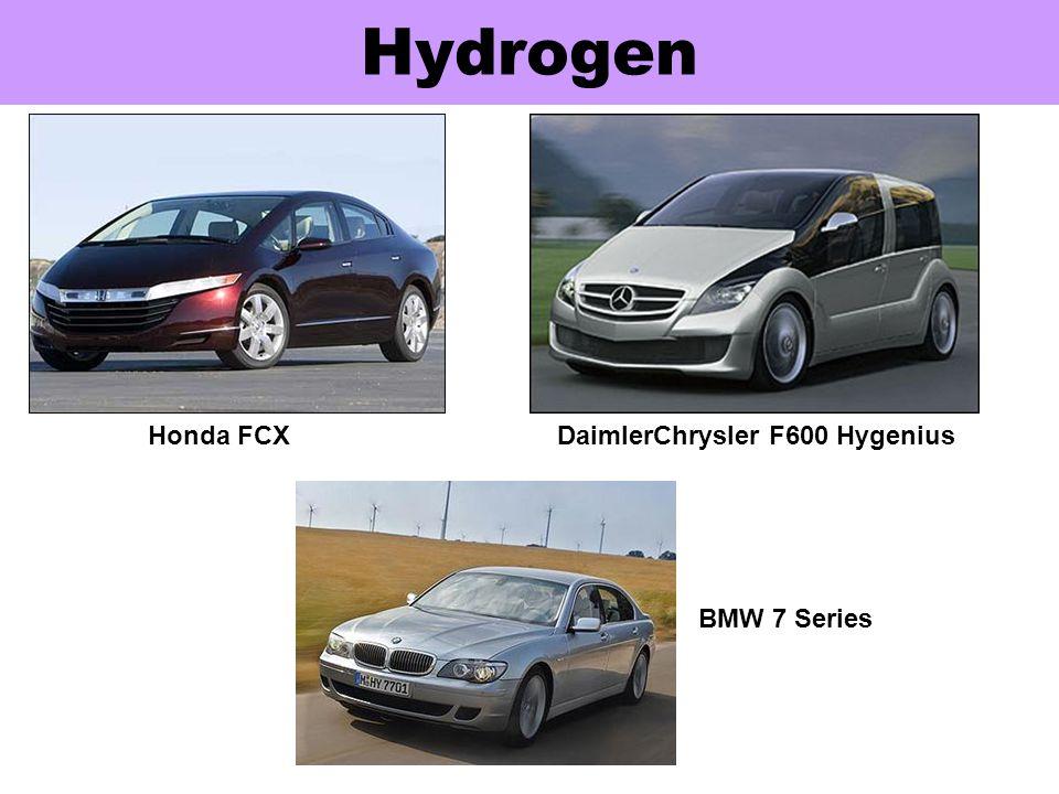 Hydrogen Honda FCX DaimlerChrysler F600 Hygenius BMW 7 Series