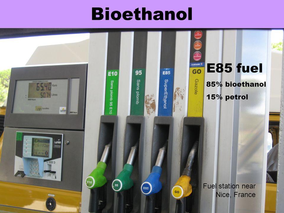 Bioethanol E85 fuel 85% bioethanol 15% petrol