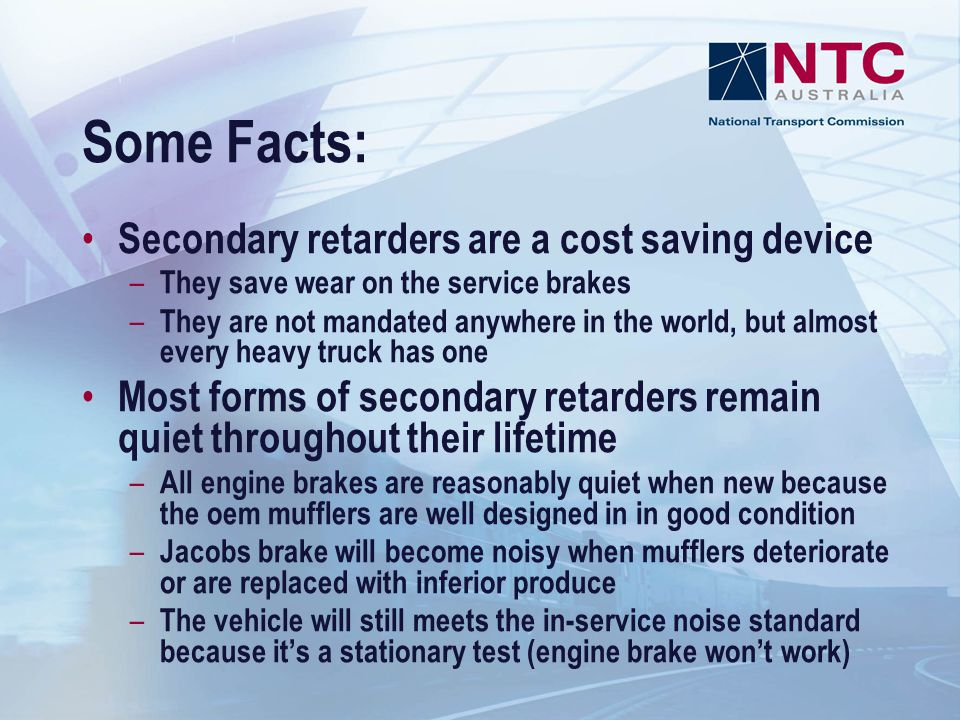 Some Facts: Secondary retarders are a cost saving device