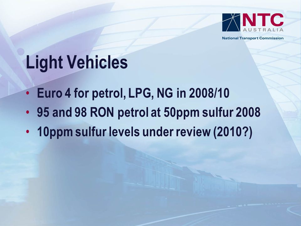 Light Vehicles Euro 4 for petrol, LPG, NG in 2008/10