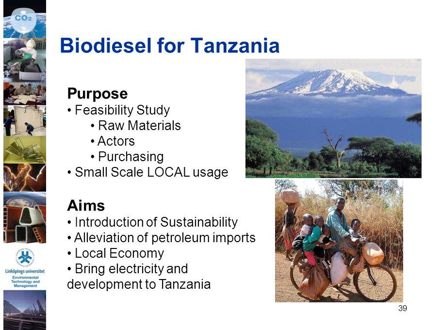Biodiesel for Tanzania