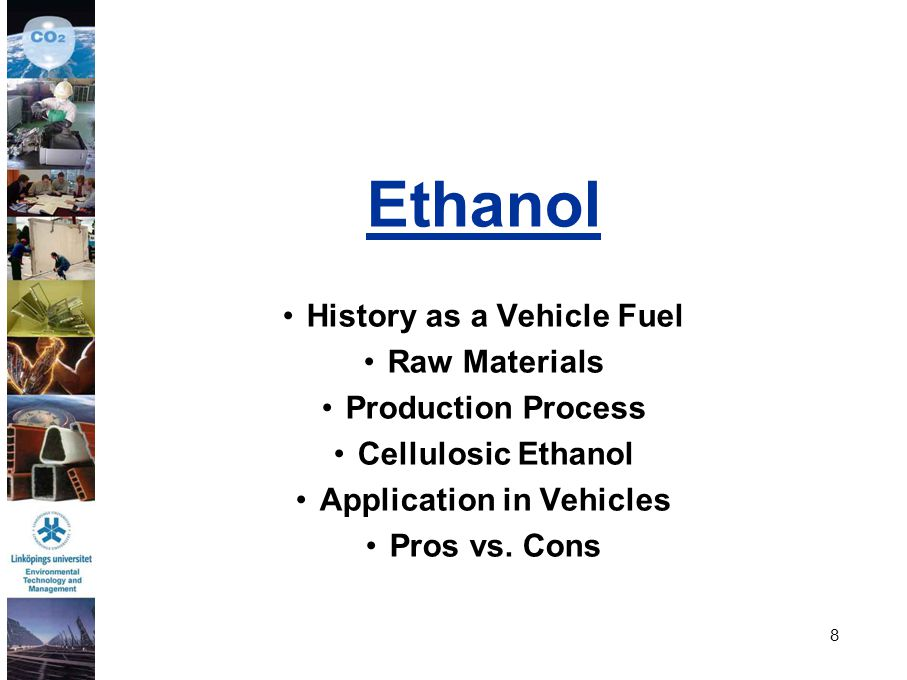 History as a Vehicle Fuel Application in Vehicles