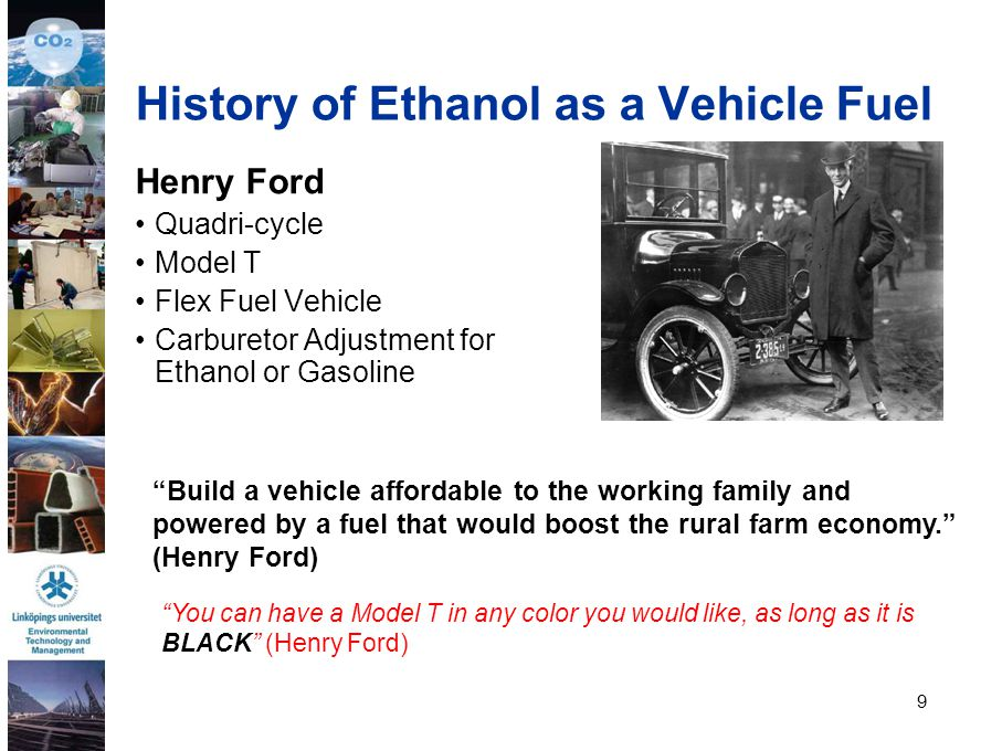 History of Ethanol as a Vehicle Fuel