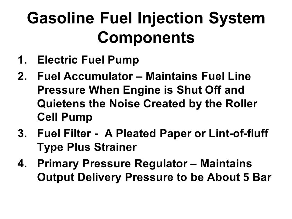 Gasoline Fuel Injection System Components