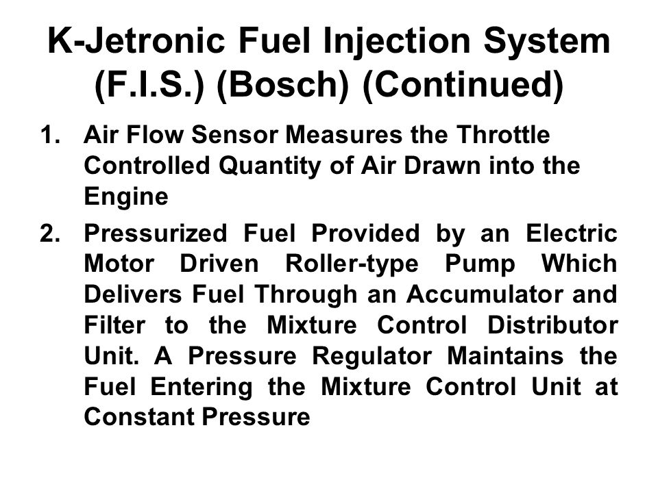 fuel injection in the spark ignition engine