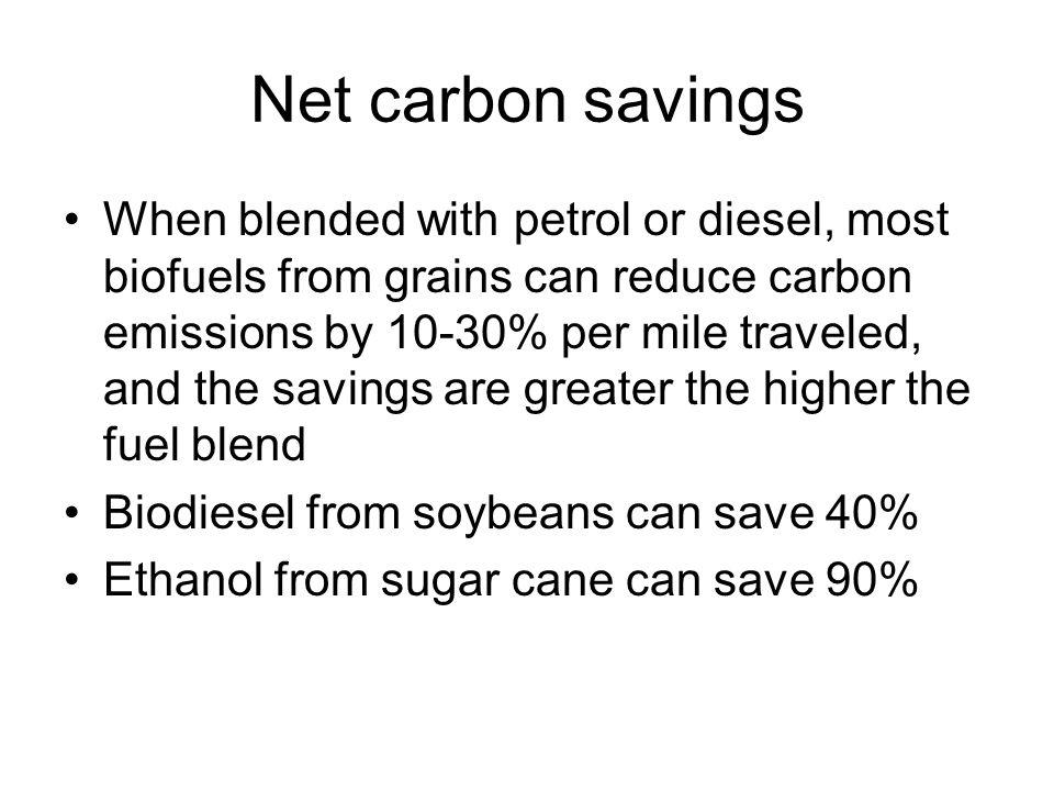 Net carbon savings