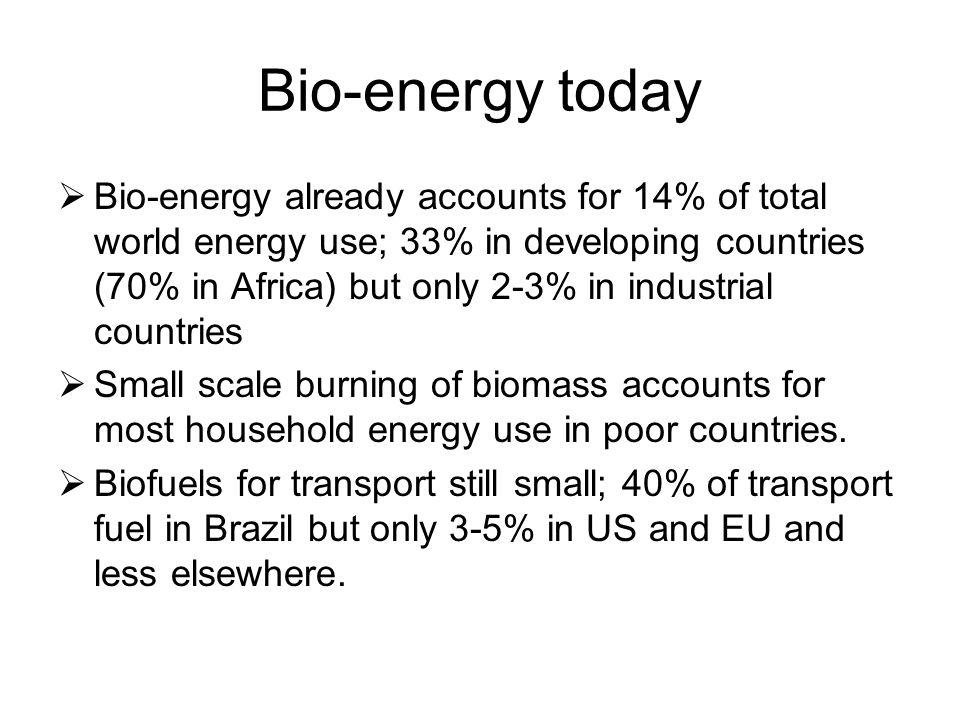 Bio-energy today