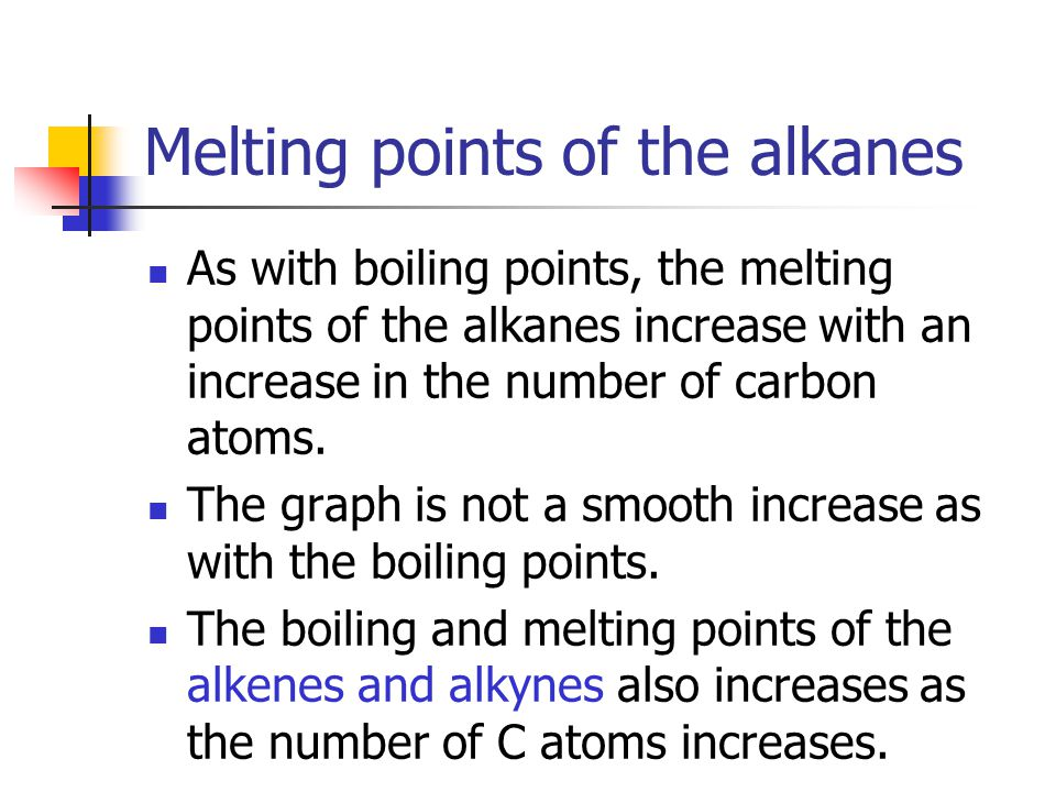 Melting points of the alkanes