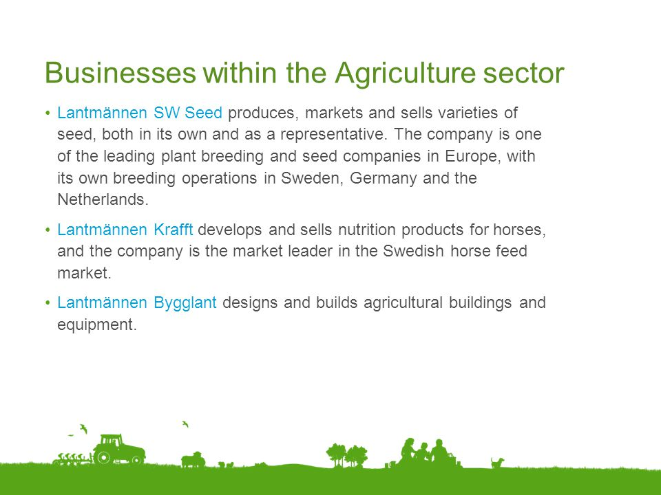 Businesses within the Agriculture sector