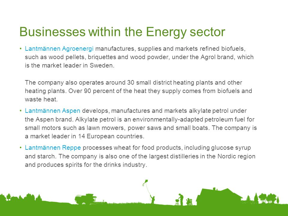 Businesses within the Energy sector