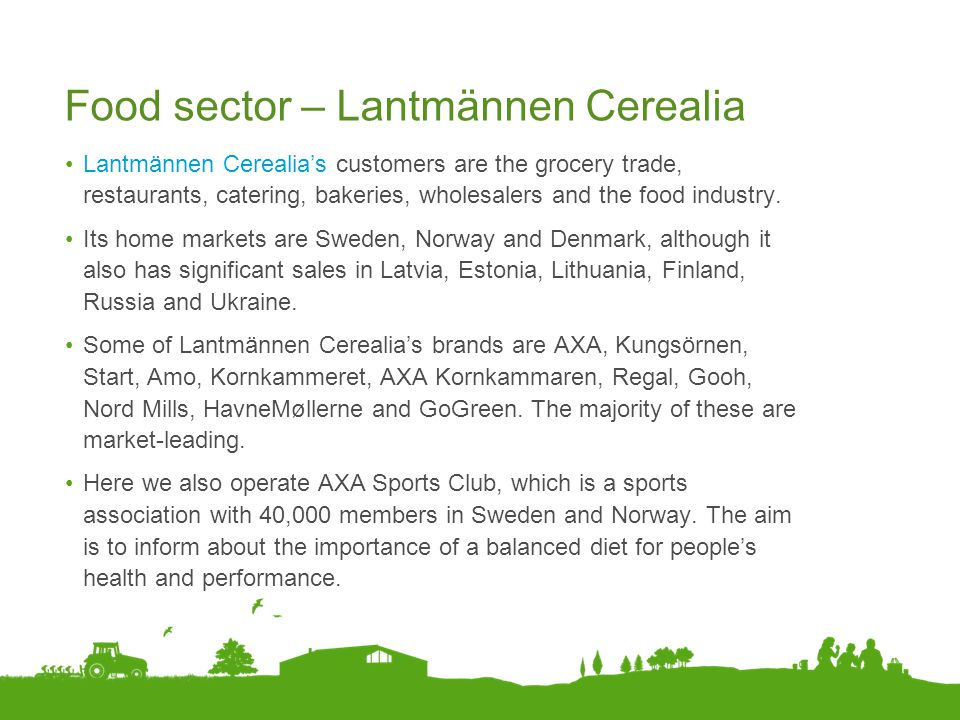 Food sector – Lantmännen Cerealia