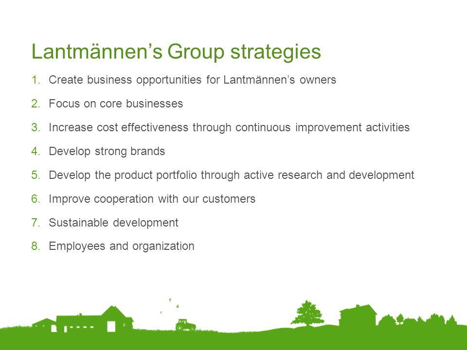 Lantmännen's Group strategies
