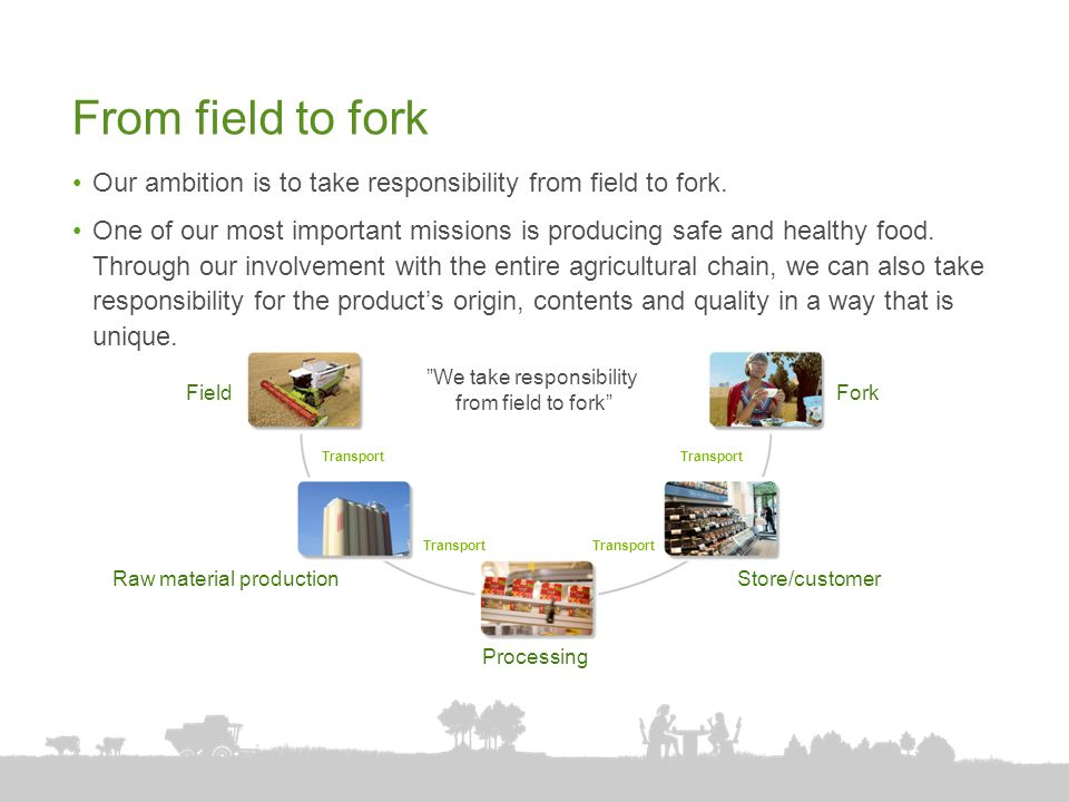We take responsibility from field to fork