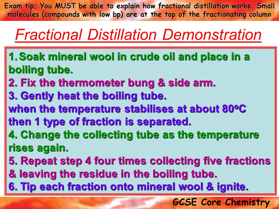 Fractional Distillation Demonstration