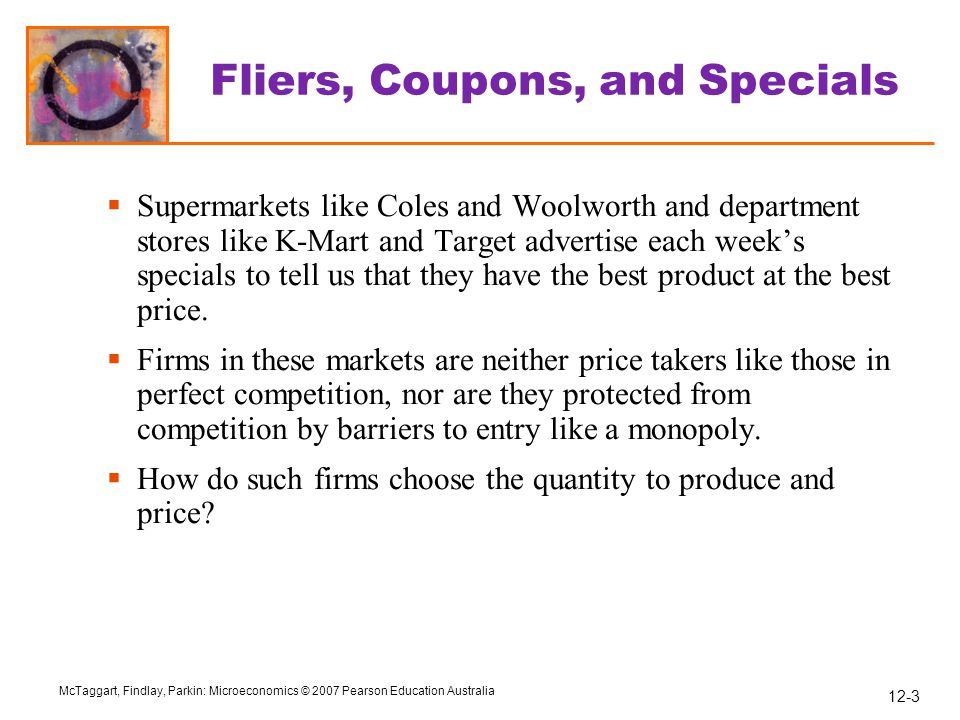 Fliers, Coupons, and Specials
