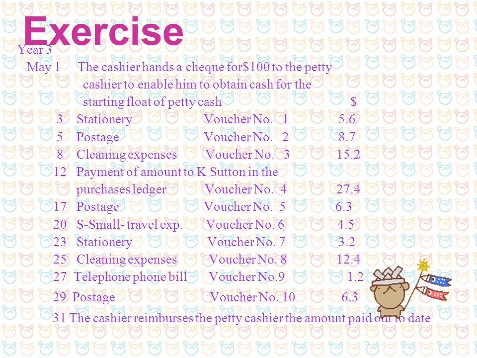 Exercise 29 Postage Voucher No. 10 6.3