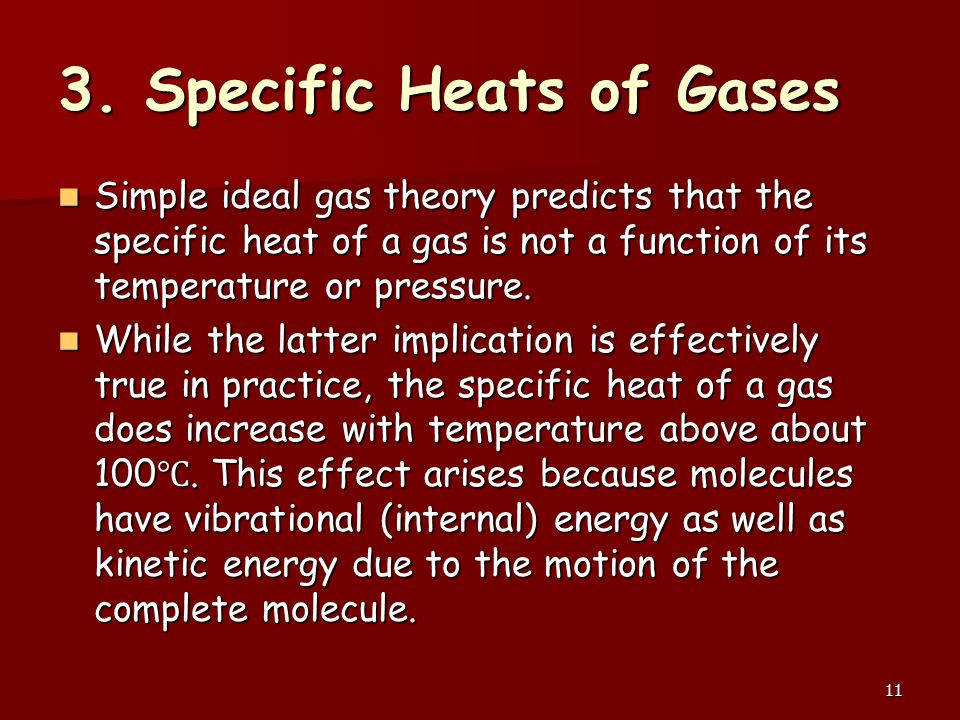 3. Specific Heats of Gases