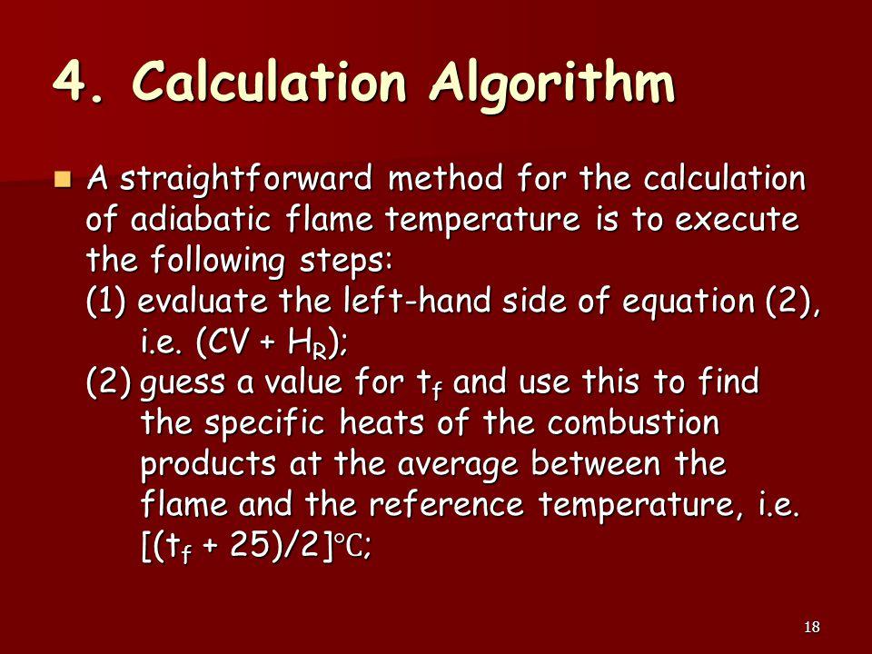 4. Calculation Algorithm