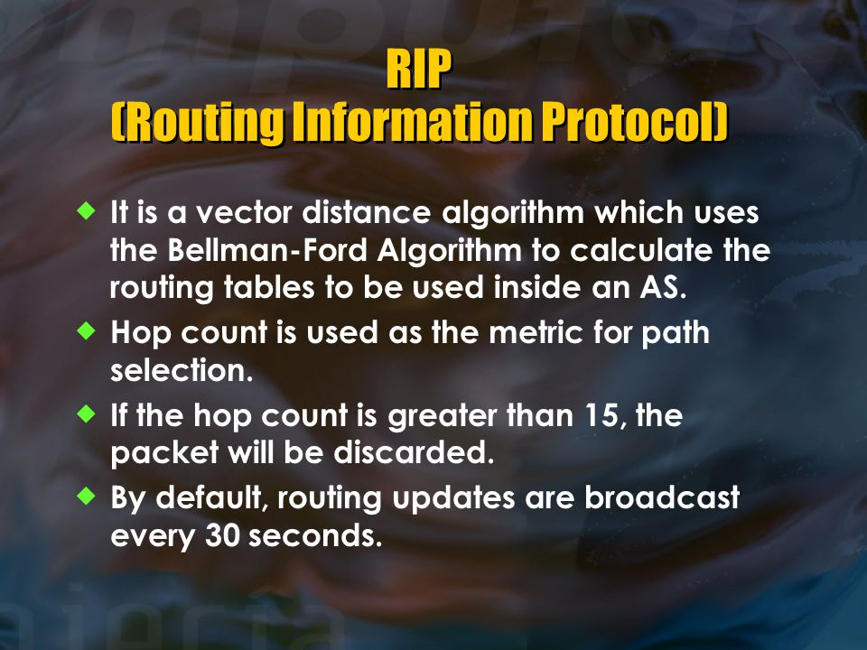 RIP (Routing Information Protocol)