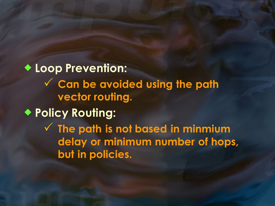 Loop Prevention: Policy Routing: