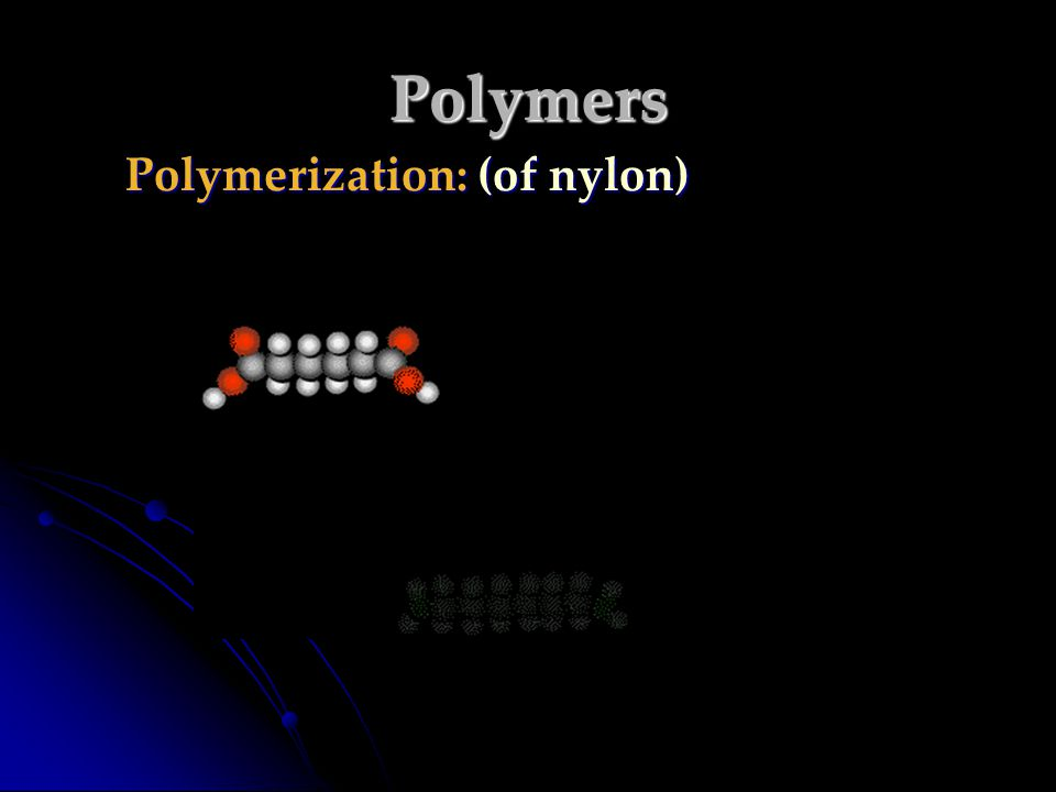 Polymers Polymerization: (of nylon)
