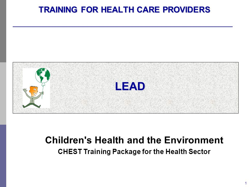 TRAINING FOR HEALTH CARE PROVIDERS