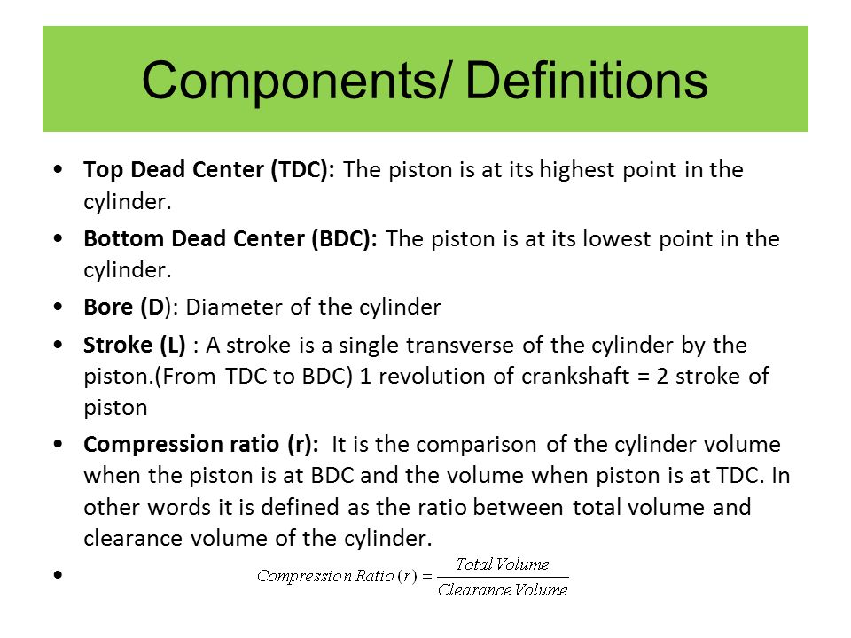 Components/ Definitions