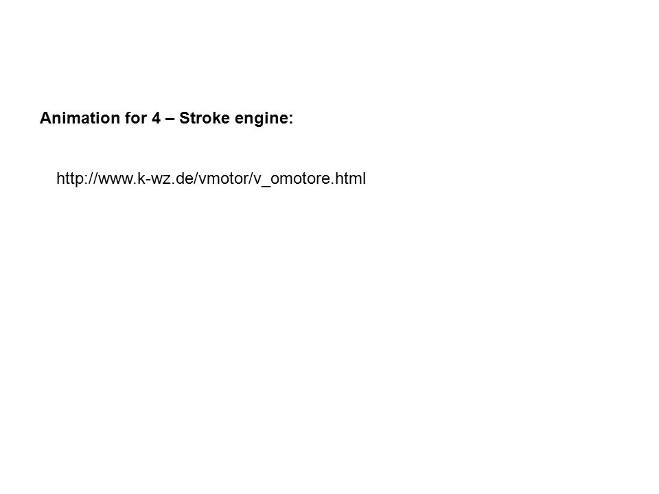 Animation for 4 – Stroke engine:
