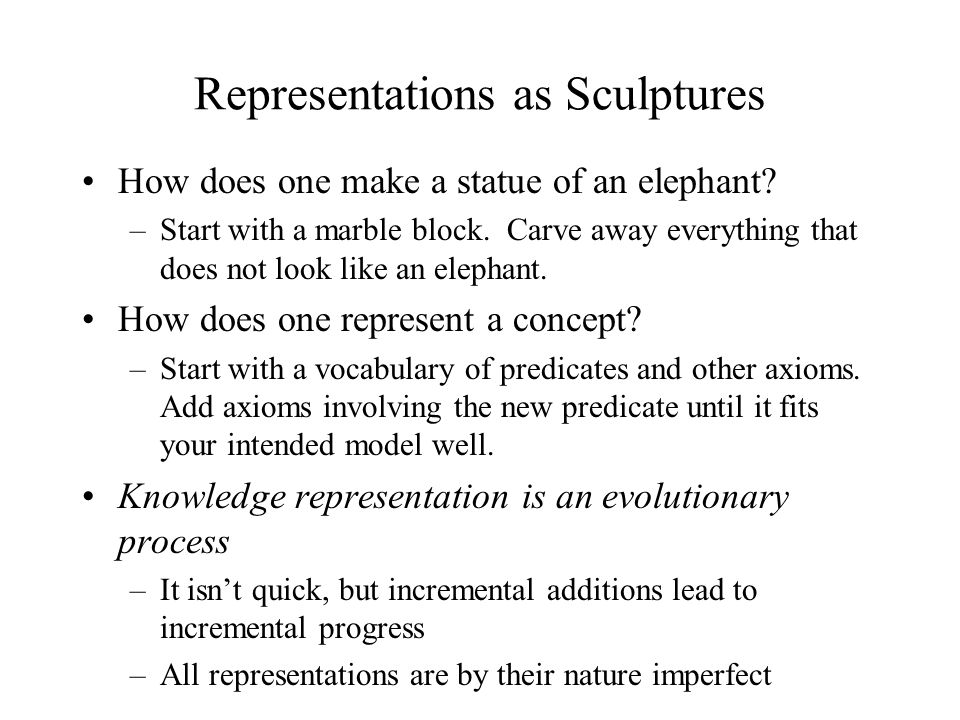 Representations as Sculptures