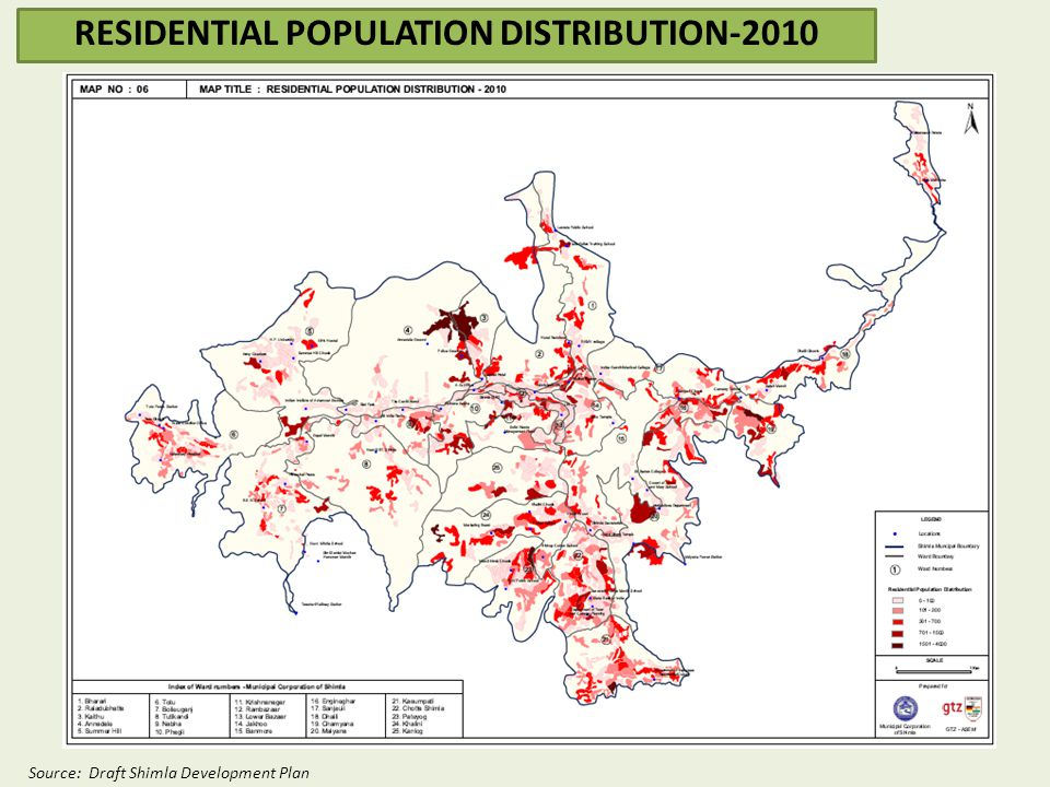 RESIDENTIAL POPULATION DISTRIBUTION-2010