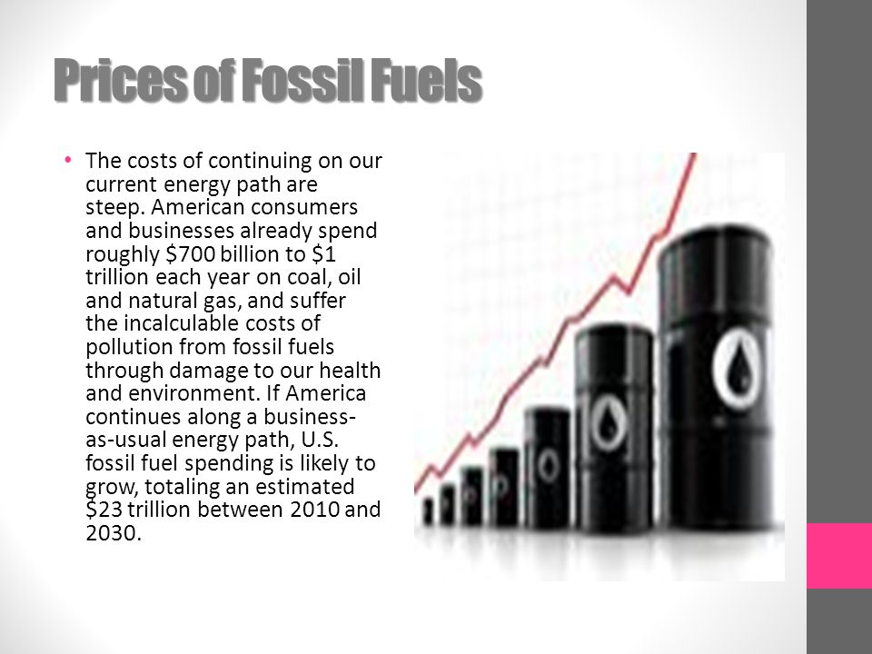 Prices of Fossil Fuels