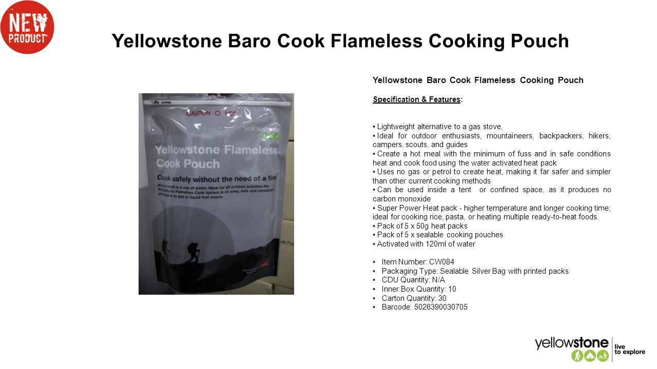 Yellowstone Baro Cook Flameless Cooking Pouch