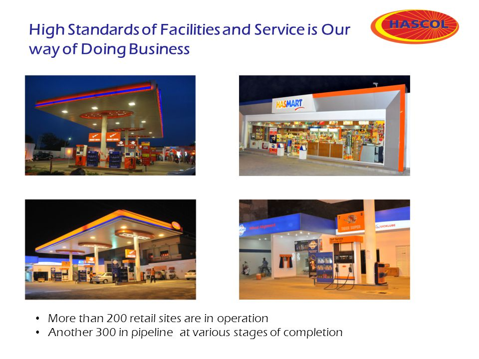 High Standards of Facilities and Service is Our way of Doing Business