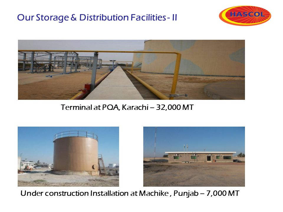 Our Storage & Distribution Facilities - II