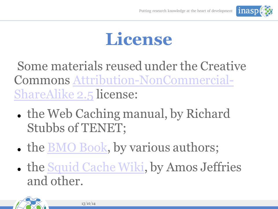 License Some materials reused under the Creative Commons Attribution-NonCommercial- ShareAlike 2.5 license: