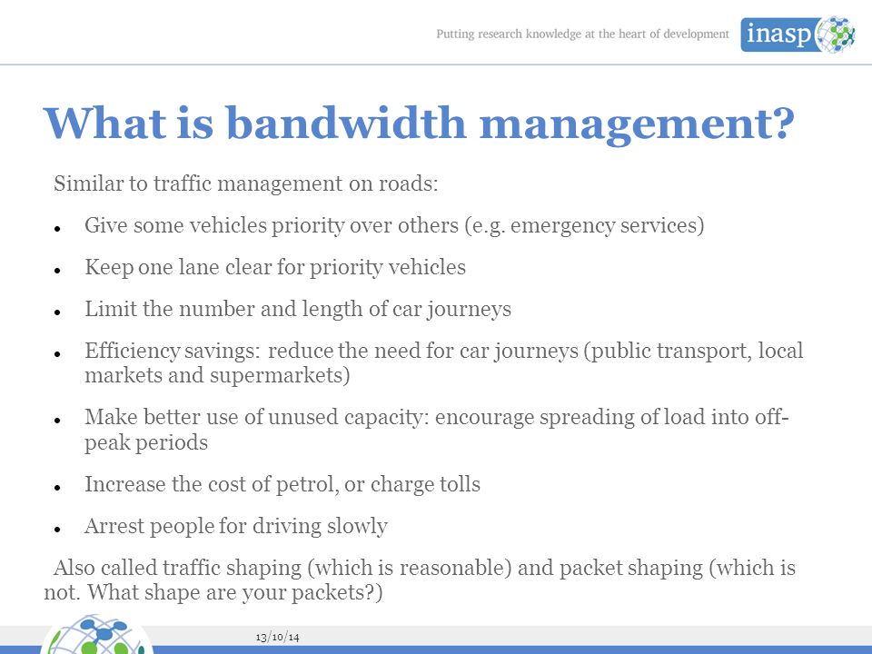 What is bandwidth management