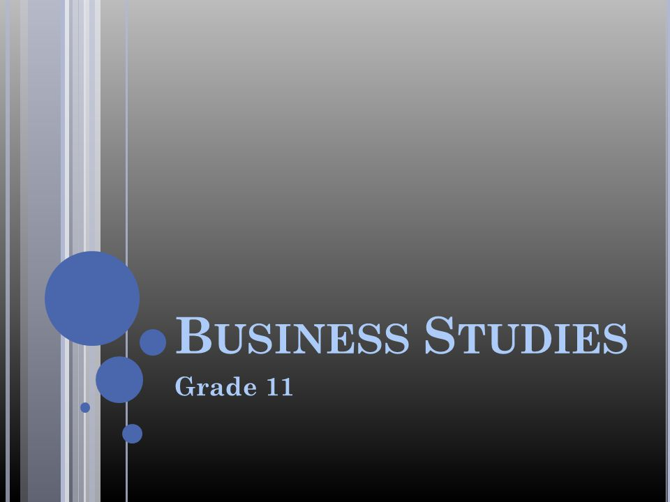 Business Studies Grade 11