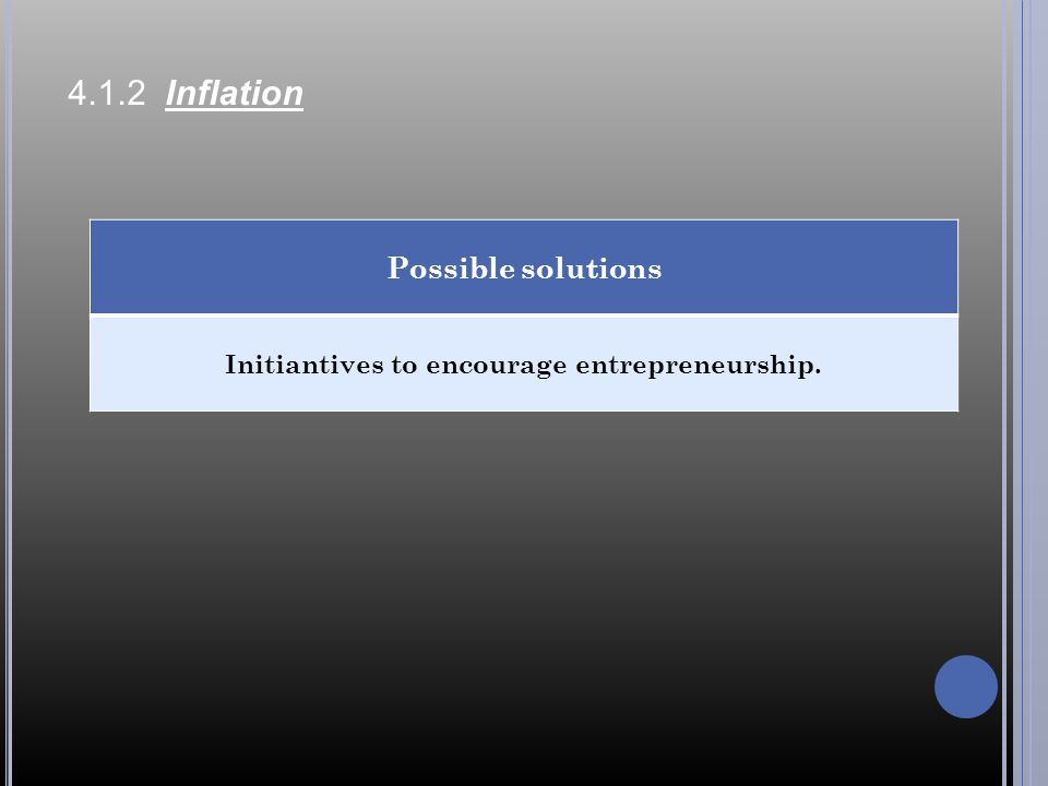 Initiantives to encourage entrepreneurship.