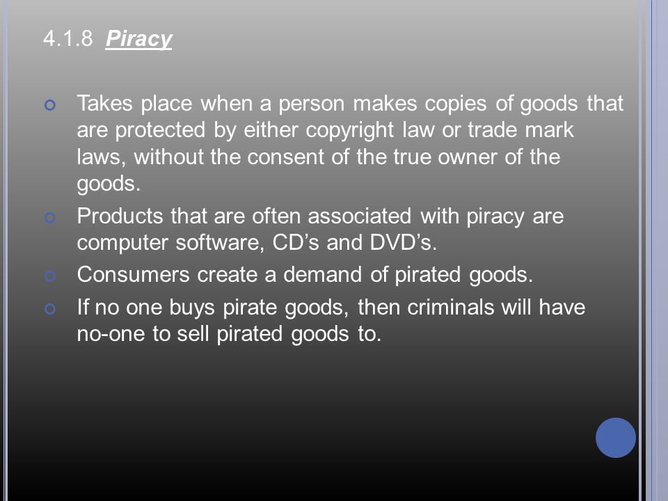 4.1.8 Piracy