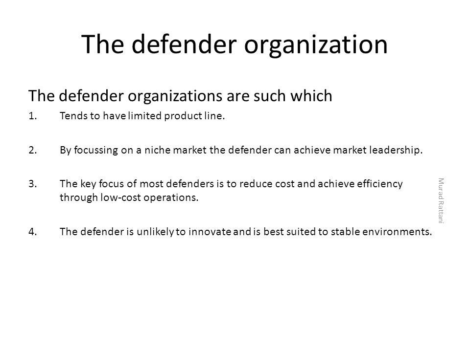 The defender organization