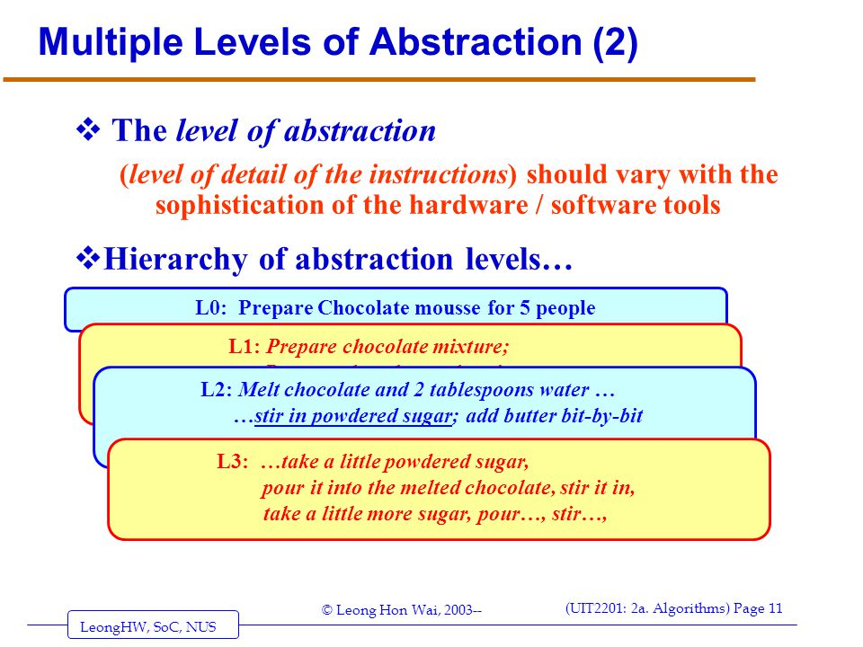 Multiple Levels of Abstraction (2)