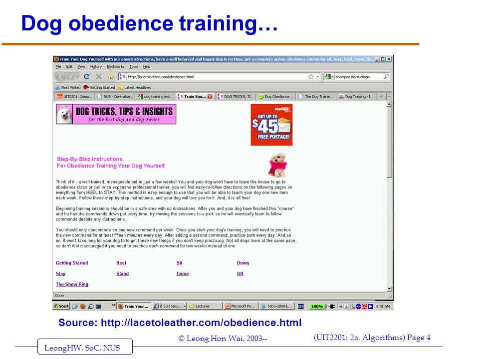 Dog obedience training…