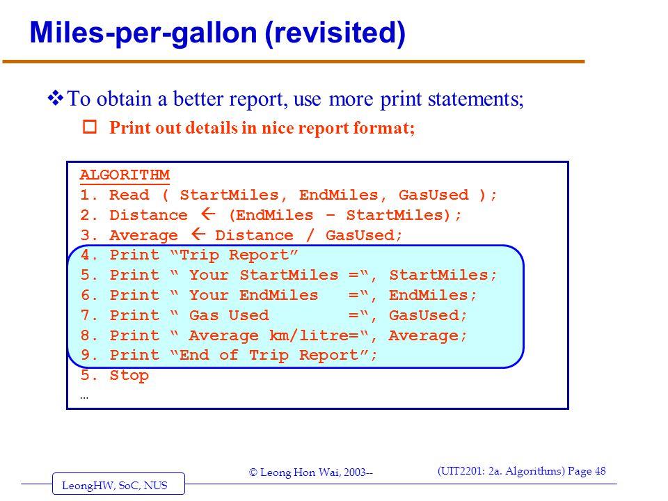 Miles-per-gallon (revisited)