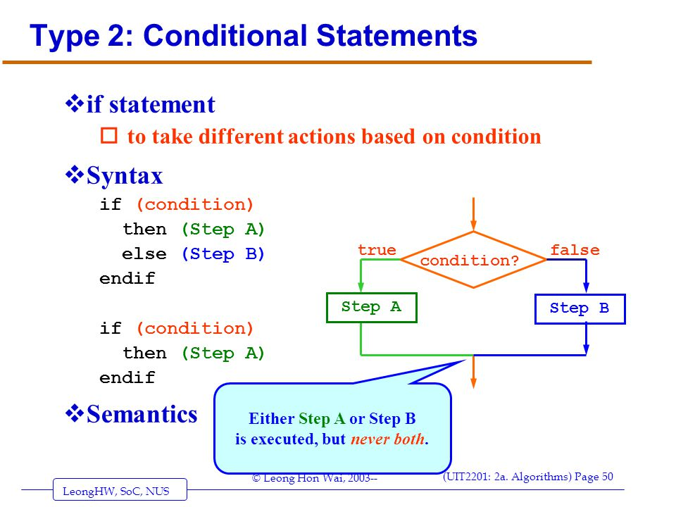 Type 2: Conditional Statements