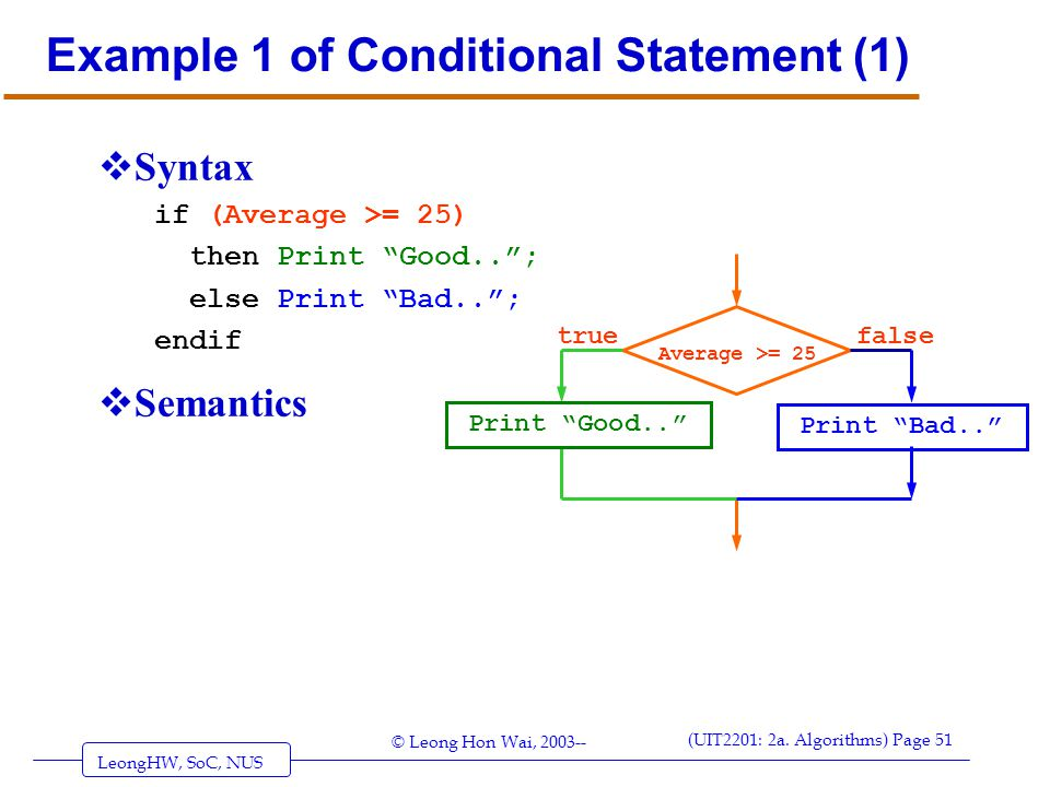 Example 1 of Conditional Statement (1)